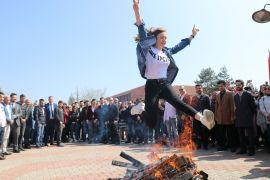Bolu'da, coşkulu Nevruz kutlaması