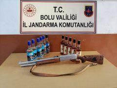 Bolu'da, uyuşturucu, silah ve kaçak içki operasyonu: 6 gözaltı