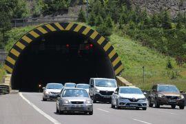 TEM'in Bolu geçişinde trafik akıcı şekilde ilerliyor