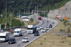 Bolu'da bayram trafiği yoğunluğu başladı