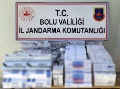 Bolu'da bin 272 paket kaçak sigara ele geçirildi