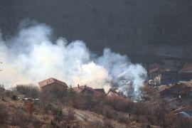 Bolu'da, 4 ev, 3 ahır ve 7 samanlık yangında kül oldu