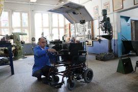 (Özel) Bolu'da, engelliler için güneş panelli engelli aracı tasarlandı