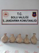 Bolu'da Roma dönemine ait 5 tarihi küp yakalandı: 1 gözaltı
