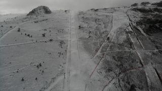 Kartalkaya'da pistlerdeki kar kalınlığı 1 metreye ulaştı