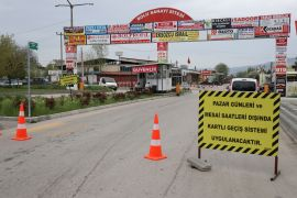Bolu'da sanayi sitesindeki işyerleri tam kapanma sonuna kadar kapatıldı