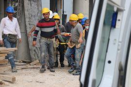İnşaat işçisi 5 metre yükseklikten düşerek yaralandı