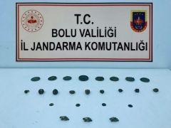 Bolu'da, Roma ve Bizans dönemine ait 24 adet tarihi eser yakalandı: 2 gözaltı