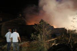 Bolu'da ahır ve samanlık yangında kül oldu