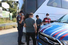 Bolu'da ormana kaçan 16 göçmen böyle yakalandı