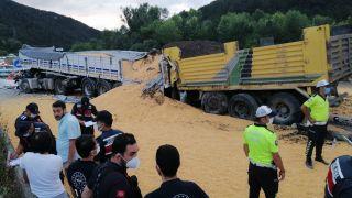 TEM'de 2 tır ve 1 kamyon çarpıştı: 1 ölü, 2 yaralı