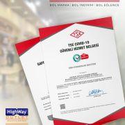 Highway Outlet, TSE güvenli hizmet belgesini yeniledi
